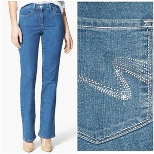 NYDJ Embellished Barbara Bootcut Denim Jeans